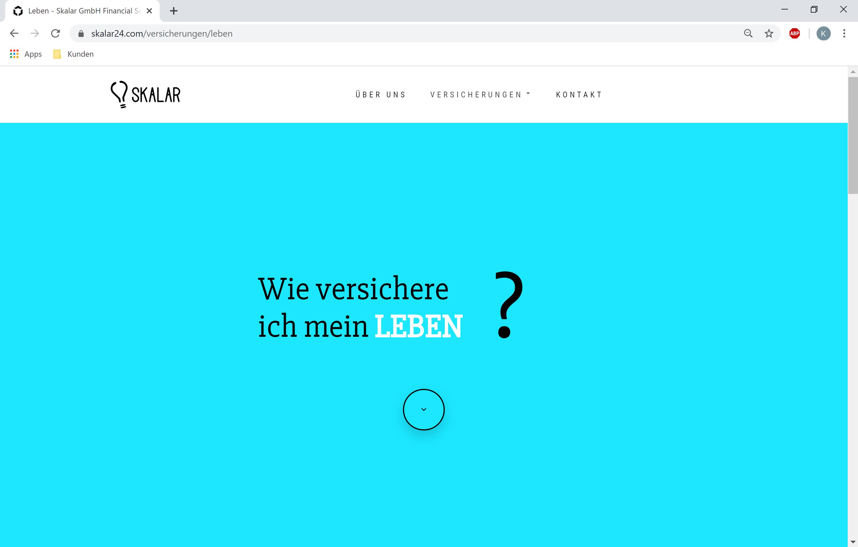 Eine neue Website und Logo für das Versicherungsunternehmen in Weißbach und Heilbronn